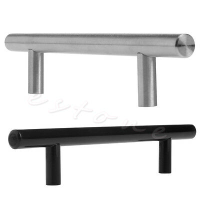 Stainless Steel T Bar Kitchen Cabinet Door Handles Drawer Pulls ...