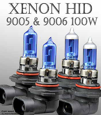 JDM 9005 & 9006 100W Combo Package High/Low Beam XENON HID Bulbs White A10U3420