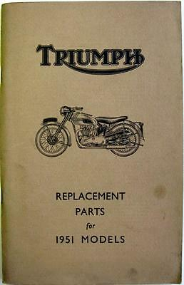 TRIUMPH 3T, 5T, 6T, TR5, T100 - Motorcycle Owner's Parts List - 1951