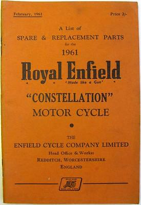 ROYAL ENFIELD Constellation - Motorcycle Owner's Parts List - 1961 - #775/2M-261