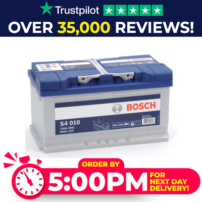 110 Heavy Duty Bosch Car Van Battery 12V 80Ah S4010 4 Year Warranty Next Day S4