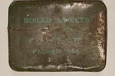 WW2 British Boiled Sweets Tin 1943