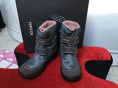 CHAUSSURE BOTTES GEOX FILLE T.32 GRIS ROSE NEUF Chaussure De Ski. Snow Boots