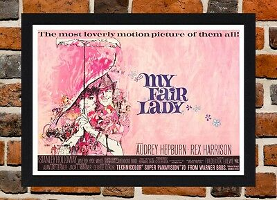Framed My Fair Lady Movie Poster A4 / A3 Size In Black / White Frame.