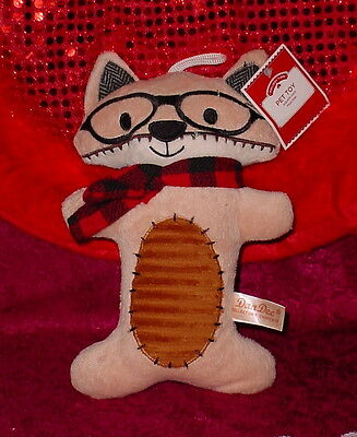 Plush Tan Cat Squeaker Toy * Great Toy * 10 Inch Long * S/med Dog