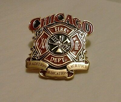 Chicago Fire Department Tradition Dedication Sacrifice Pin