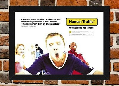 Framed Human Traffic Movie Poster A4 / A3 Size In Black / White Frame.