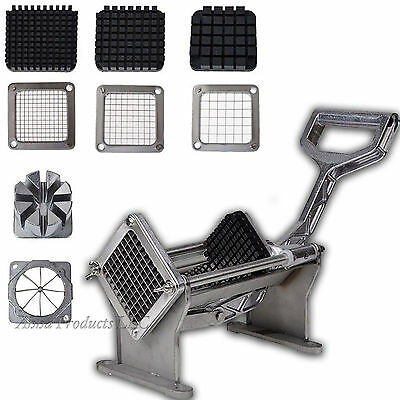 Commercial Potato French Fry Fruit Vegetable steel Slicer 4 Blade cutter Chopper