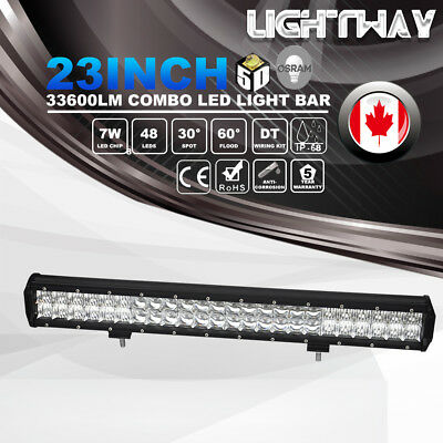 23Inch 5D Osram 336W 33600LM Led Light Bar Spot Flood Offroad Driving 4WD Lamps