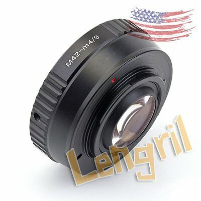 US Focal Reducer Speed Booster LEN adapter M42 Lens to Micro 4/3