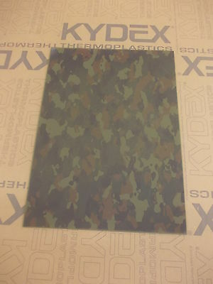 Kydex T Sheet 297 X 210 X 2Mm A4 Size  Flecktarn Camoflage Infused Panel