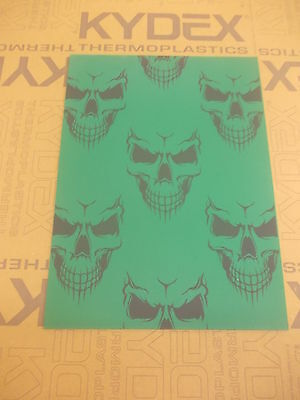 Kydex T Sheet 297 X 210 X 2Mm A4 Size  Green Skull Infused Panel
