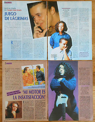 TEARS FOR FEARS 1990s spanish clippings photos magazine articles Roland Orzabal