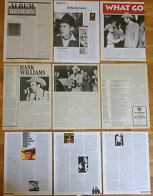 HANK WILLIAMS clippings magazine dated articles photos country folk