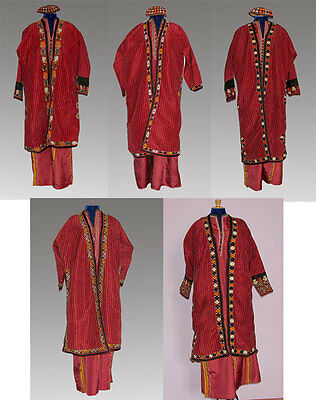 National Turkmen Women Hand made Silk Clothes in Variations