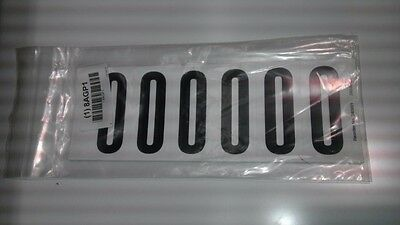 "Number Label, 0, White 3"" H, Pk 5 #34099W0 (M1000-8Agp1)"