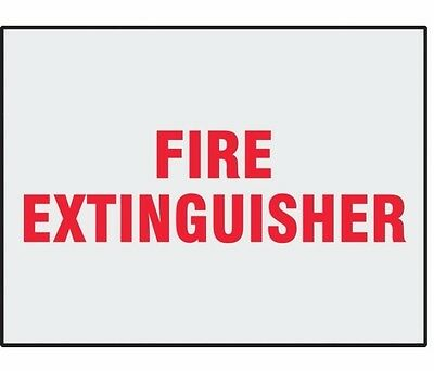 "Danger Label, Fire Extinguisher, 5"" X 3-1/2"" Pk 8 #l286H (M0974-3Xdr8)"