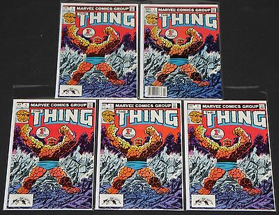 Vintage Marvel Bronze THING #1's 5pc High Grade Comic Lot 9.2OB Fantastic Four