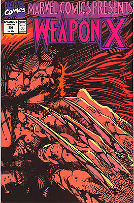 Marvel Comics Presents #84 -Wolverine In Weapon X Chap 12 - 1991 (Grade 9.2+) WH