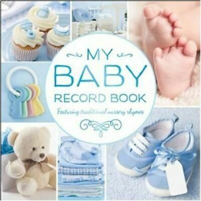 NEW My Baby Record Book (Blue) Record Book Free Shipping