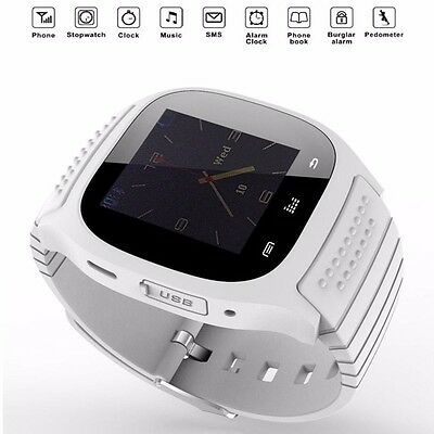 Bluetooth Intelligente Orologio Polso Smart Watch Per Apple IOS Android Bianco