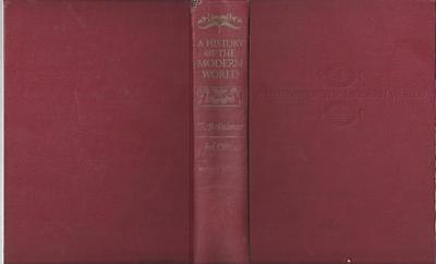 A history of the modern world by r.r. palmer 2nd edition 1957 alfred knopf hc