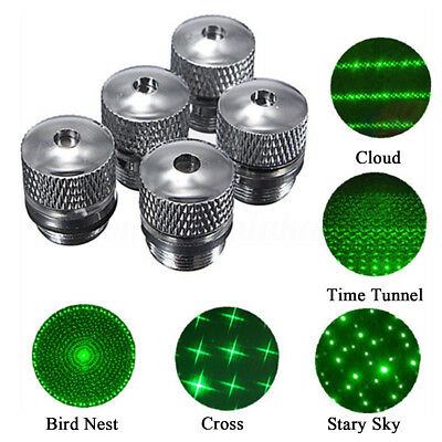 For Green Red Blue Laser Pointer 5 Style Pattern Converter Light Refraction Head