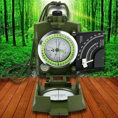 Army Metal Sighting Compass Clinometer Camping Hiking New Professional Military