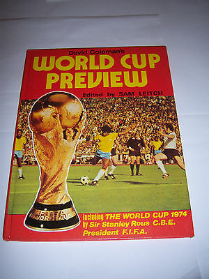 David Coleman's World Cup Preview 1974 - Soccer Annual / Book