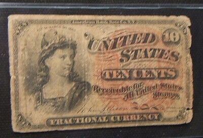 Series Of 1863~~ 10 Cents Fractional Currency