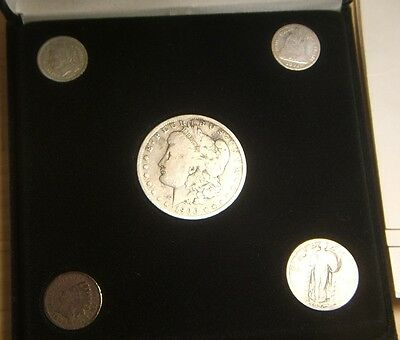 Historic Commemorative  Set~~5-Coins~~Indian Cent, 3-Cent, Dime, Quarter & Dolla