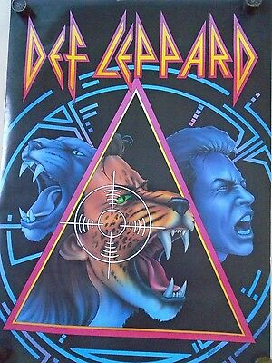 "Def Leppard / Original Vintage Canadian Poster / 22 x 31 1/2"" - Exc. New cond."