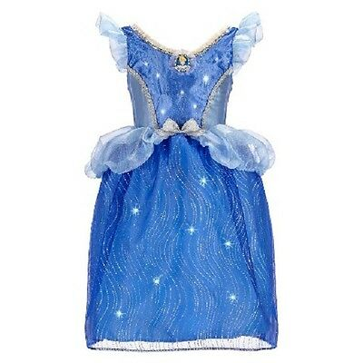 Disney Princess Cinderella Feature Light-Up Dress Costume Size 4-6x New FreeShip