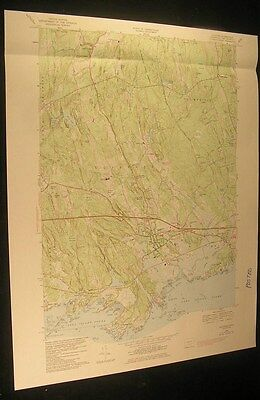 Guilford Connecticut Tuttles Point Long Island Sound 1984 old USGS Topo chart