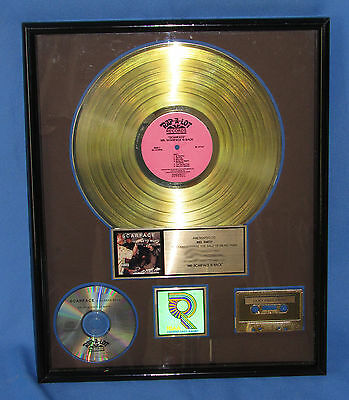 Scarface -Mr. Scarface Is Back--1991 Rap-A-Lot  Riaa Certified Gold Award Plaque