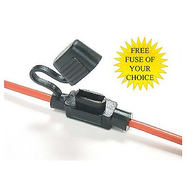 Splash Proof In Line Standard Blade Fuse Holder Waterproof Car Bike Boat Bike 30