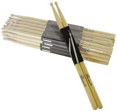 8 Paar DIMAVERY DDS-5B Drumsticks, Ahorn Maple Drum-Stick Trommelstöcke Sticks