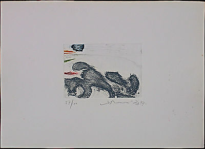 HSIAO CHIN (蕭勤)incisione acquatinta 50x35 firmata numerata 1977 Handsigned