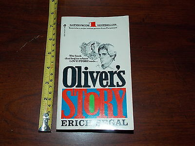 Olivers Story Erich Segal Paperback Book March 1978 Avon Old Vintage