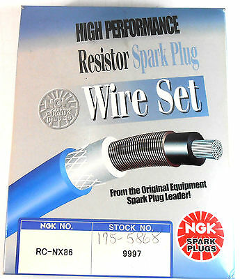 NGK RC-NX86 (9997) High Performance Resistor Spark Plug Wire Set