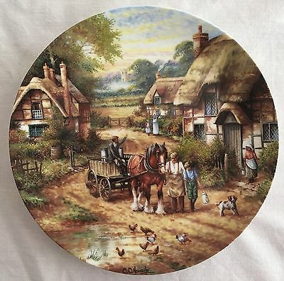RARE WEDGWOOD COUNTRY DAYS COLLECTORS EARLY MORNING MILK PLATE 1st CHRIS HOWELLS