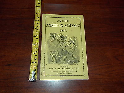 Ayers American Almanac Dr Practical Analytical Chemists 1883 Rare Old Booklet