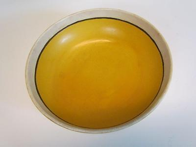 Antique S.e.g. Saturday Evening Girls Art Pottery Bowl In Yellow