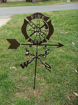 Fire Department Shield Vector - Firefighter Badge Weathervane