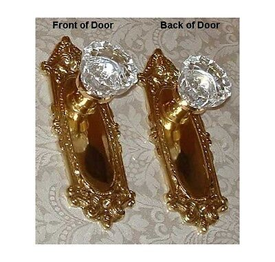 CUSTOM MADE for with Privacy Lock-Crystal Glass & Solid Natural Brass