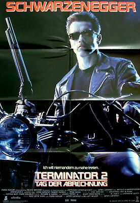 TERMINATOR 2: JUDGEMENT DAY 1991 Arnold Schwarzenegger GERMAN POSTER