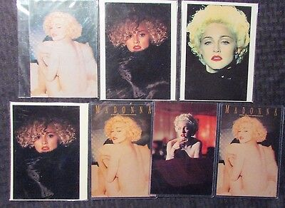 LOT of 7 MADONNA Post Cards NM 4.25x6""