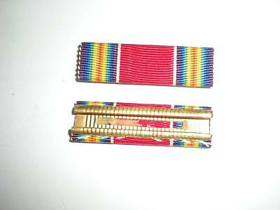 1950's Us Army Wwii Victory Medal Ribbon -Crimped Back