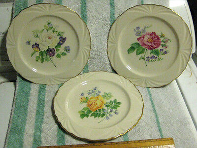 3 Lenox The Rose Expresions Collection Collector Plates