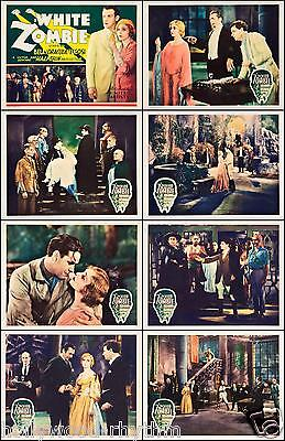 BELA LUGOSI In WHITE ZOMBIE COMPLETE SET OF 8 INDIVIDUAL 11x14 LC PRINTS 1932